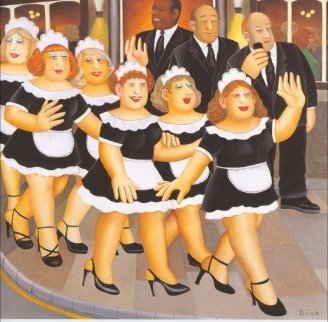 Girls Night Out 1998 Limited Edition Print by Beryl Cook