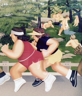 Women Running 1985 Limited Edition Print - Beryl Cook