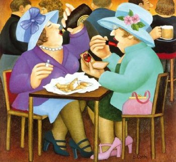 Ladies Who Lunch 2005 Limited Edition Print by Beryl Cook