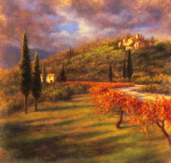 Dreams of Tuscany 2008 34x34 Original Painting by Robert  Copple