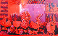 Bodegon With Fruit 2000 62x59 Super Huge Original Painting by Vladimir Cora - 0