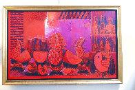 Bodegon With Fruit 2000 62x59 Super Huge Original Painting by Vladimir Cora - 1