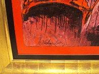 Bodegon in Red 2000 63x101 Super Huge Mural Original Painting by Vladimir Cora - 1