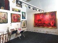 Bodegon in Red 2000 63x101 Super Huge Mural Original Painting by Vladimir Cora - 0