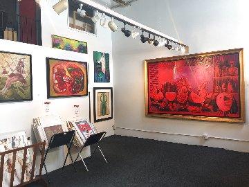 Bodegon in Red 2000 63x101 Mural Original Painting by Vladimir Cora