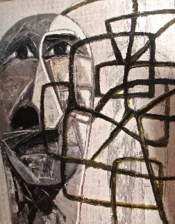 Flautistas 2002 78x62 Original Painting - Vladimir Cora