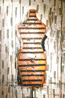 Manaqui #3 2003 60x40 Huge Original Painting - Vladimir Cora
