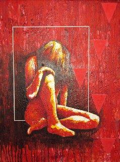Figura #8 2001 32x24 Original Painting by Vladimir Cora