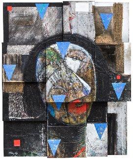 Cabeza Fragmentada 2001 44x36 Original Painting - Vladimir Cora