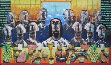 La Ultima Asemblea (The Last Supper) 2003 40x60 Huge Limited Edition Print - Vladimir Cora