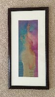 Mujer Pastel 1984 25x13 Works on Paper (not prints) by Vladimir Cora - 1