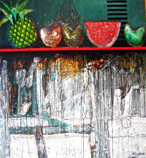 Bodegon Con Frutas 2000 54x51 Original Painting - Vladimir Cora
