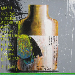 Autorretrato, Set of 3 Paintings 2010 Original Painting by Vladimir Cora