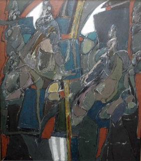 Las Senoritas De Tac 1984 77x70 Original Painting by Vladimir Cora