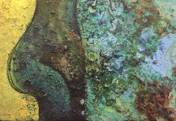 Torso No.3 1990 8x12 Original Painting - Vladimir Cora