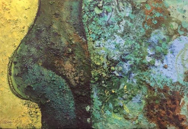 Torso No.3 1990 8x12 Original Painting by Vladimir Cora