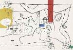 Trois Verres D'aperitif 1960 Limited Edition Print - Le Corbusier