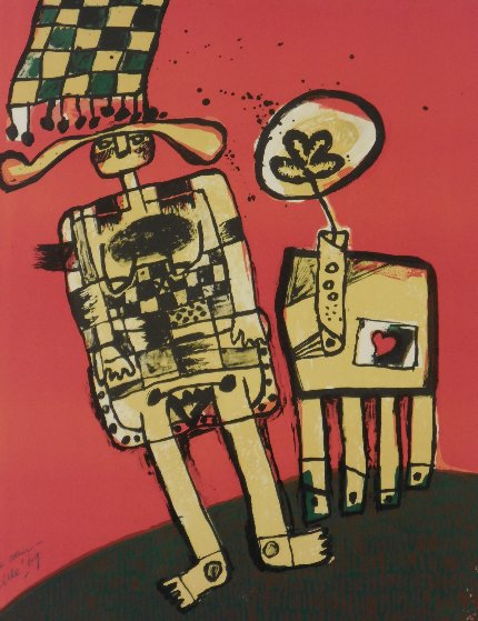 l'As De Coeur Ace of Hearts 1969 Limited Edition Print by Guillaume Corneille
