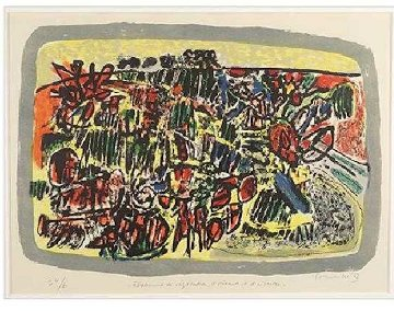 Etalement De Végétation, D'oiseaux Et D'insectes  Limited Edition Print - Guillaume Corneille