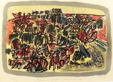 Etalement De Végétation, D'oiseaux Et D'insectes  1962 Limited Edition Print - Guillaume Corneille
