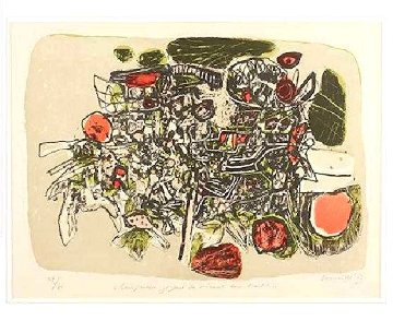 Composition Joyeuse Des Oiseaux Dans l'arbre Limited Edition Print by Guillaume Corneille