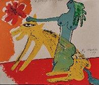 La Femme Au Lévrier Russe 1977 Limited Edition Print by Guillaume Corneille - 2