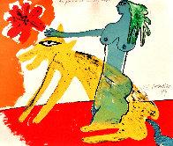 La Femme Au Lévrier Russe 1977 Limited Edition Print by Guillaume Corneille - 0