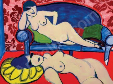 Two Women in an Interior 1979 Limited Edition Print by Guillaume Corneille