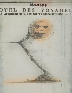 Smile in the Gift Shop 1960 16x13 Works on Paper (not prints) - Joseph Cornell