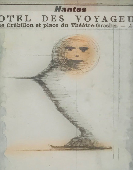 Smile in the Gift Shop 1960 16x13 Works on Paper (not prints) by Joseph Cornell