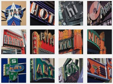 American Signs, Complete Portfolio of 12 2009 Limited Edition Print - Robert Cottingham