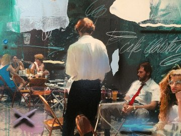 Serie Cafe 1992  40x50 Huge Original Painting - Will Cotton