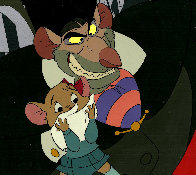 Great Mouse Detective - Ratigan & Olivia 1986 Limited Edition Print by  Courvoisier Disney Cels - 0