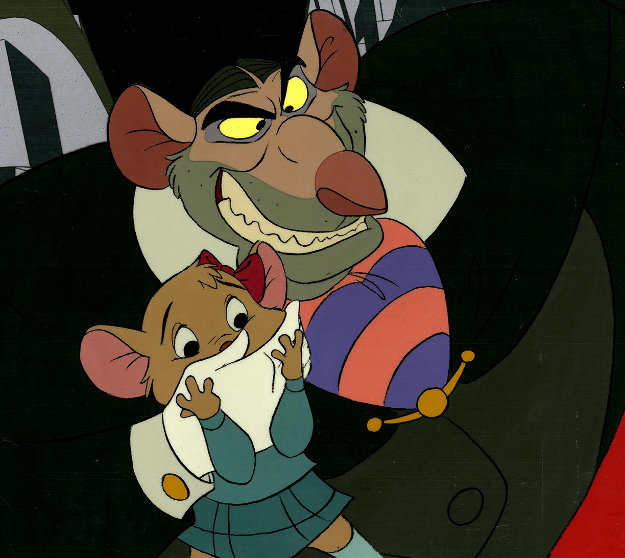 Great Mouse Detective - Ratigan & Olivia 1986 Limited Edition Print by  Courvoisier Disney Cels