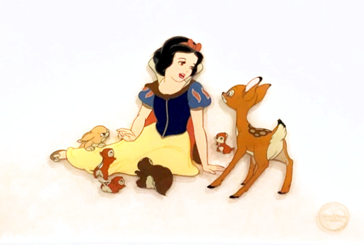 Snow White and the Seven Dwarfs Limited Edition Print by  Courvoisier Disney Cels