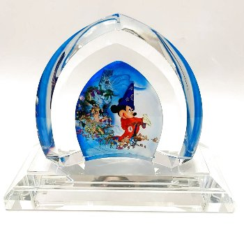 Fantasia Glass Sculpture 2007 9 in Sculpture -  Courvoisier Disney Cels