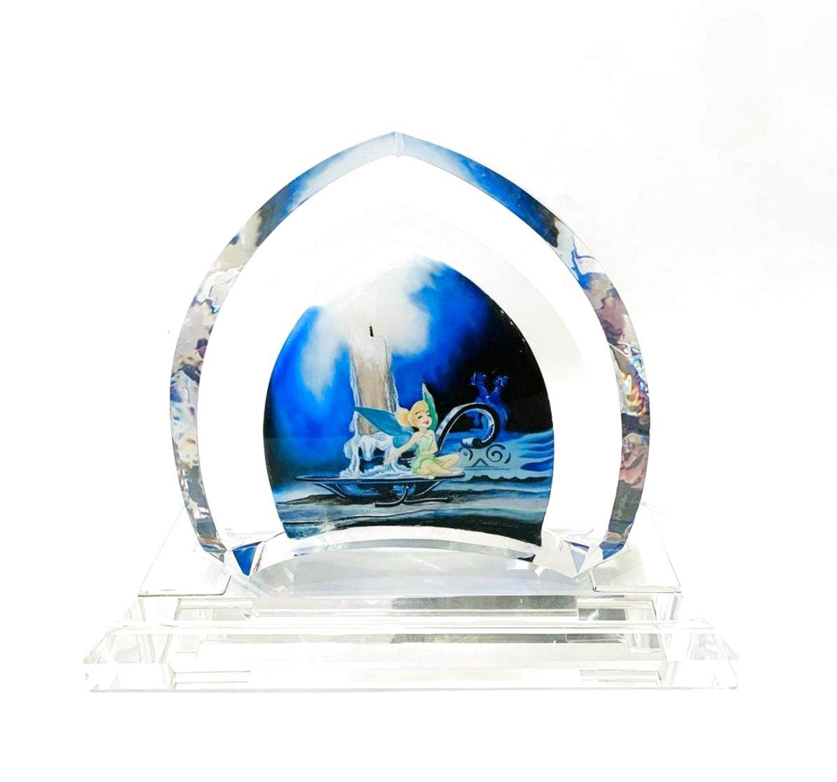 Tinkerbell Glass Sculpture 2007 9 in Sculpture by  Courvoisier Disney Cels