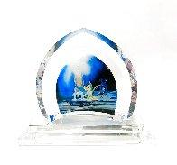 Tinkerbell Glass Sculpture 2007 9 in Sculpture by  Courvoisier Disney Cels - 0