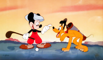 Canine Caddy 1994 Limited Edition Print -  Courvoisier Disney Cels