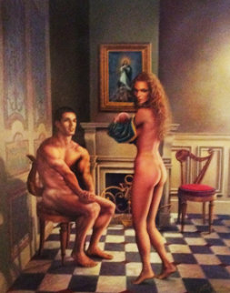 Gift 1996 42x34 Original Painting - Jack Cowan