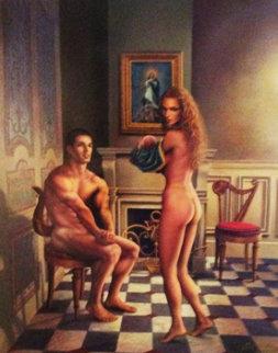 Gift 1996 42x34 Huge Original Painting - Jack Cowan