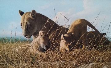 Mother Feeding Cubs 24x32 Original Painting by Craig Bone