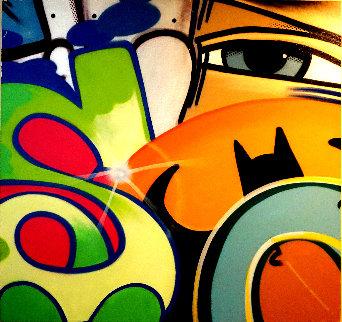 Batman 2010 56x53 Original Painting by  Crash (John Matos)