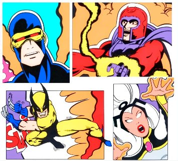 X-Men Portfolio, Set of 4 2000 Limited Edition Print -  Crash (John Matos)