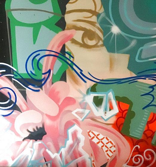 Makin' The Hearty Stop 1991 76x70 Original Painting by  Crash (John Matos)