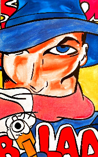 Shadow Watercolor 1994 41x26 Super Huge Watercolor -  Crash (John Matos)