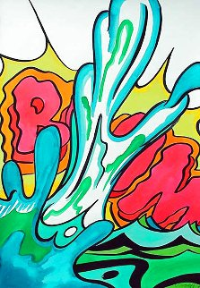 Boom Watercolor 1990 42x30 Watercolor -  Crash (John Matos)