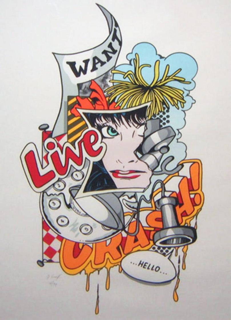 Wanted 1989 Limited Edition Print by  Crash (John Matos)
