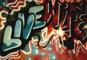 Livewire 1982 93x70 Original Painting -  Crash (John Matos)
