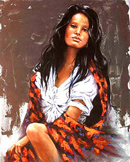 Floral Shawl EA 1991 Limited Edition Print - Penni Anne Cross